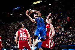 December 29, 2017 - Assago, Milan, Italy - Branko Lazic (#10 Crvena Zvezda Mts Belgrade) shoots a layup  during a game of Turkish Airlines EuroLeague basketball between  AX Armani Exchange Milan vs Crvena Zvzda Mts Belgrade at Mediolanum Forum in Milan, Italy, on 29 december 2017. (Credit Image: © Roberto Finizio/NurPhoto via ZUMA Press)