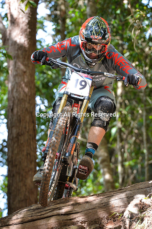 22.04.2016. Cairns,Australia. UCI Mountain Bike World Cup. Downhill qualifying. Greg Minaar from South Africa riding for Santa Cruz Syndicate.