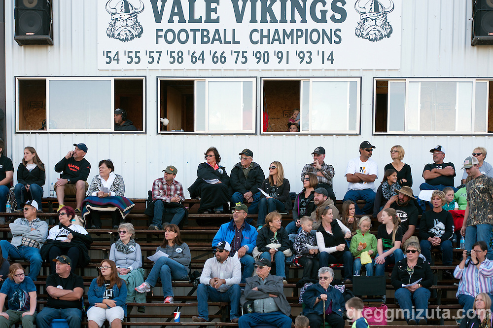 Vale - Burns football game, September 18, 2015 at Vale High School, Vale, Oregon. Vale won 65-28.