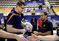 08-06-2014 NED: WLV Nederland - Portugal, Almere<br /> Coach Edwin Benne en Hugo Silva