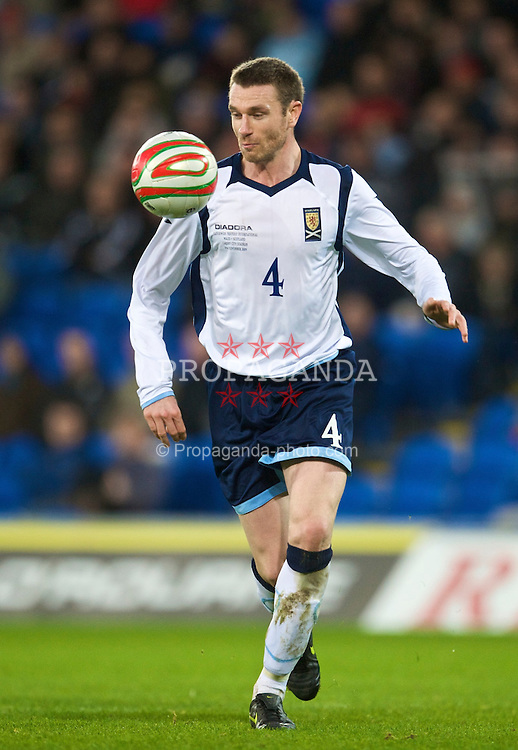 CARDIFF, WALES - Saturday, November 14, 2009: Scotland's Stephen McManus during the international friendly match against Wales at the Cardiff City Stadium. (Pic by David Rawcliffe/Propaganda)