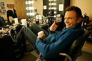 Joel McHale, actor and host of Talk Soup on E Channel in the make-up room backstage at The Soup