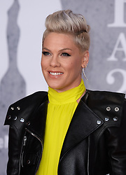 Pink attending the Brit Awards 2019 at the O2 Arena, London. Photo credit should read: Doug Peters/EMPICS. EDITORIAL USE ONLY