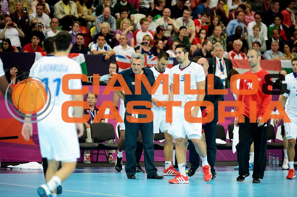 DESCRIZIONE : France Handball Jeux Olympiques Londres GIOCATORE : Onesta Karabatic FRA SQUADRA : France Homme DATA : 2012-08-06CATEGORIA : SPORT : HandBall AUTORE : AGENZIA CIAMILLO & CASTORIA/G.Ciamillo