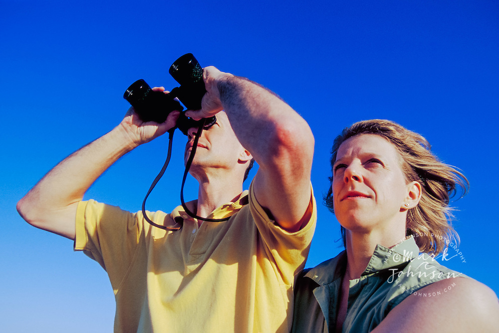 Couple Using Binoculars