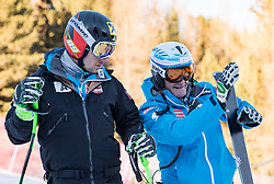27.12.2016, Deborah Compagnoni Rennstrecke, Santa Caterina, ITA, FIS Ski Weltcup, Santa Caterina, Super G, Herren, Streckenbesichtigung, im Bild Marcel Hirscher (AUT), Andreas Puelacher (Sportlicher Leiter ÖSV Ski Alpin Herren) // Marcel Hirscher of Austria, Andreas Puelacher Austrian Ski Association head Coach alpine Men's during the course inspection for the men's SuperG of FIS Ski Alpine World Cup at the Deborah Compagnoni race course in Santa Caterina, Italy on 2016/12/27. EXPA Pictures © 2016, PhotoCredit: EXPA/ Johann Groder