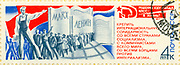 A stamp printed in the USSR devotedto Communism, circa 1971