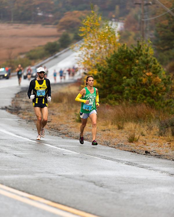 Mount Desert Island Marathon: Leah Frost, female winner , Leah Frost,