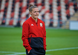 NEWPORT, WALES - Tuesday, September 3, 2019: Wales' Loren Dykes on the pitch before the UEFA Women Euro 2021 Qualifying Group C match between Wales and Northern Ireland at Rodney Parade. (Pic by David Rawcliffe/Propaganda)