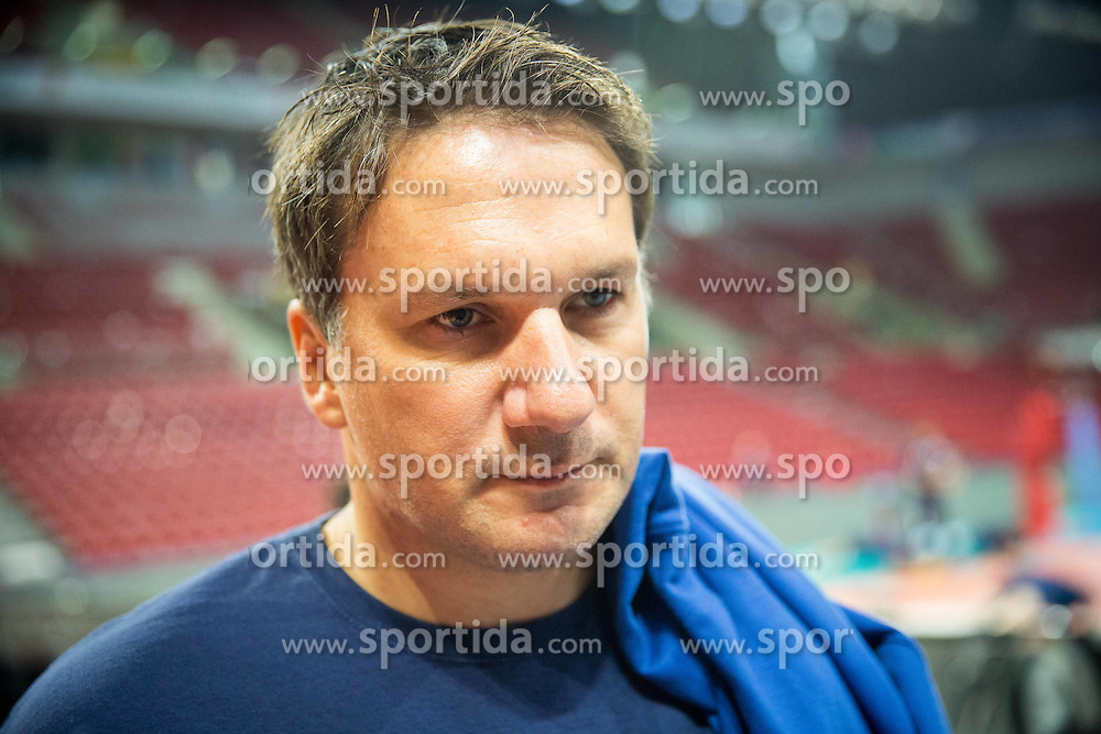 Samo MIklavc during practice session of Slovenian team in the morning of Final day of  2015 CEV Volleyball European Championship - Men, on October 18, 2015 in Arena Armeec, Sofia, Bulgaria. Photo by Vid Ponikvar / Sportida
