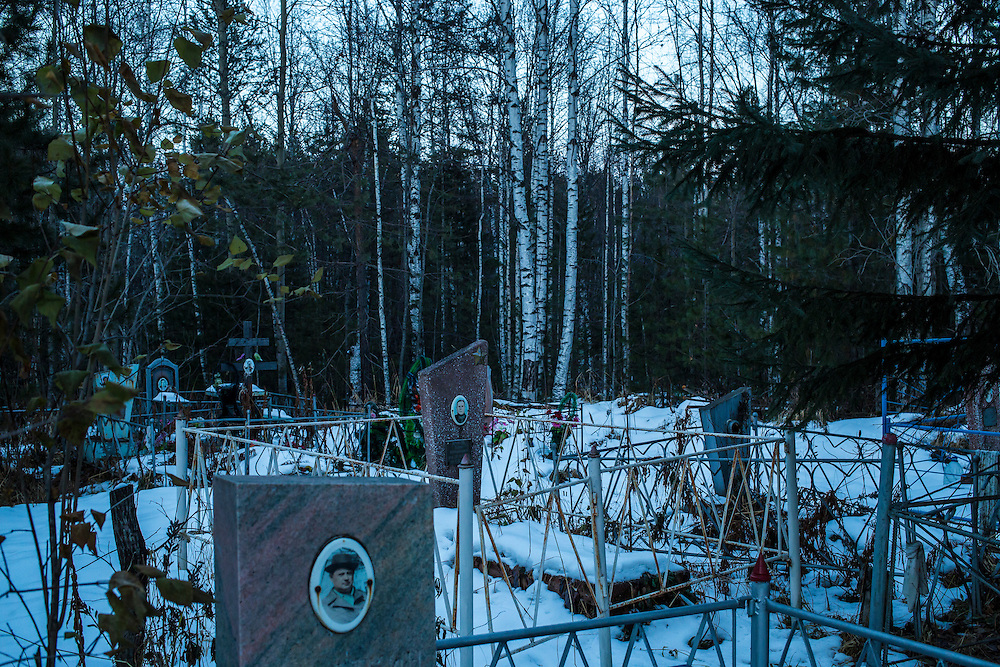 A cemetery on Monday, October 28, 2013 in Baikalsk, Russia.
