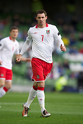 DUBLIN, REPUBLIC OF IRELAND - Wednesday, May 25, 2011: Wales' Andy Dorman in action against Scotland during the Carling Nations Cup match at the Aviva Stadium (Lansdowne Road). (Photo by David Rawcliffe/Propaganda)