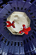 Flyaway skydiving simulator.  A vertical wind tunnel propels 'flyers' into the air, simulating free flight.  Las Vegas. USA.
