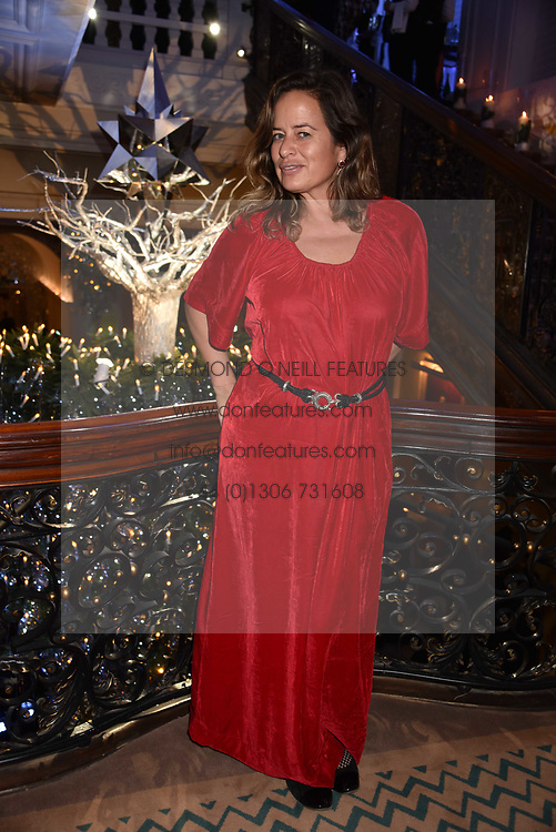 Jade Jagger at reception to celebrate the launch of the Claridge's Christmas Tree 2017 at Claridge's Hotel, Brook Street, London England. 28 November 2017.<br /> Photo by Dominic O'Neill/SilverHub 0203 174 1069 sales@silverhubmedia.com