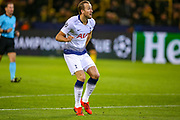 Tottenham Hotspur forward Harry Kane (10) scores a goal 0-1 and shows the delight on his face during the Champions League round of 16, leg 2 of 2 match between Borussia Dortmund and Tottenham Hotspur at Signal Iduna Park, Dortmund, Germany on 5 March 2019.