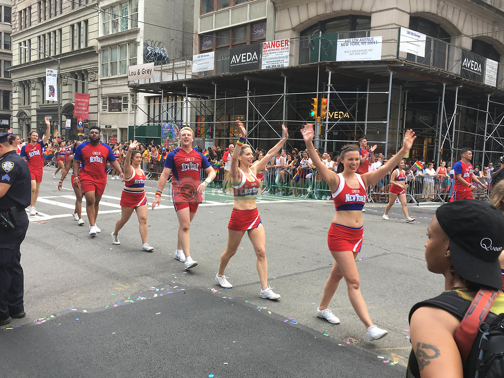 June 24, 2018 - New York City, New York, USA - 6/24/18.The 2018 Gay Pride Parade (NYC Pride March) in New York City. (Credit Image: © Starmax/Newscom via ZUMA Press)