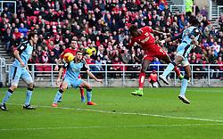 Tammy Abraham of Bristol City sees his headed effort saved  - Mandatory by-line: Joe Meredith/JMP - 04/02/2017 - FOOTBALL - Ashton Gate - Bristol, England - Bristol City v Rotherham United - Sky Bet Championship