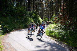 Shara Gillow (AUS) and Lorena Llamas (ESP) on the descent to Elorrio at Emakumeen Bira 2018 - Stage 4, a 120 km road race starting and finishing in Durango, Spain on May 22, 2018. Photo by Sean Robinson/Velofocus.com