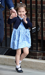 Princess Charlotte arriving at the Lindo Wing at St Mary's Hospital in Paddington, London to see her new sibling.