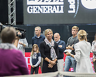 Sandra Klemenschits of Austria retires from professional tennis during the semi finals of the WTA Generali Ladies Linz Open at TipsArena, Linz<br /> Picture by EXPA Pictures/Focus Images Ltd 07814482222<br /> 15/10/2016<br /> *** UK &amp; IRELAND ONLY ***<br /> <br /> EXPA-REI-161015-5019.jpg