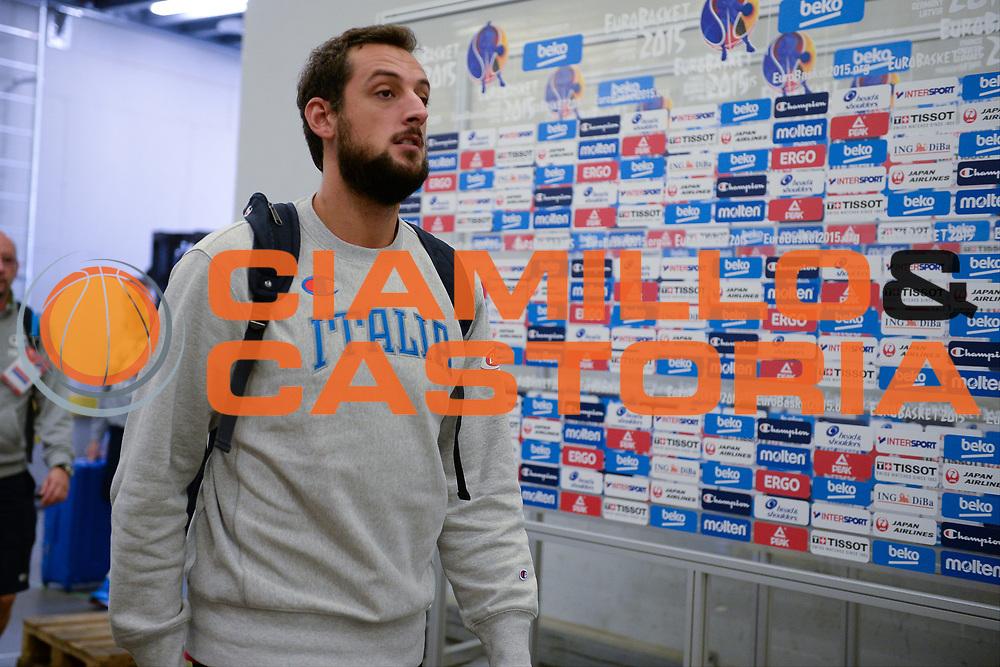 DESCRIZIONE: Berlino EuroBasket 2015 - Allenamento<br /> GIOCATORE: Marco Belinelli<br /> CATEGORIA: Allenamento<br /> SQUADRA: Italia Italy<br /> EVENTO:  EuroBasket 2015 <br /> GARA: Berlino EuroBasket 2015 - Allenamento<br /> DATA: 04-09-2015<br /> SPORT: Pallacanestro<br /> AUTORE: Agenzia Ciamillo-Castoria/M.Longo<br /> GALLERIA: FIP Nazionali 2015<br /> FOTONOTIZIA: Berlino EuroBasket 2015 - Allenamento