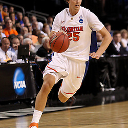 Mar 19, 2011; Tampa, FL, USA; Florida Gators forward Chandler Parsons (25) during first half of the third round of the 2011 NCAA men's basketball tournament against the UCLA Bruins at the St. Pete Times Forum.  Mandatory Credit: Derick E. Hingle