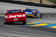 SONOMA, CA - June 20, 2010:  Juan Pablo Montoya races into the turn for the Toyota/Save Mart 350 race at Infineon Raceway in Sonoma, CA.