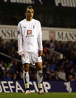 Photo: Paul Thomas.<br /> Tottenham Hotspur v Sevilla. UEFA Cup. Quarter Final, 2nd Leg. 12/04/2007.<br /> <br /> Dejected Spur Dimitar Berbatov after he hits the post in the first half.