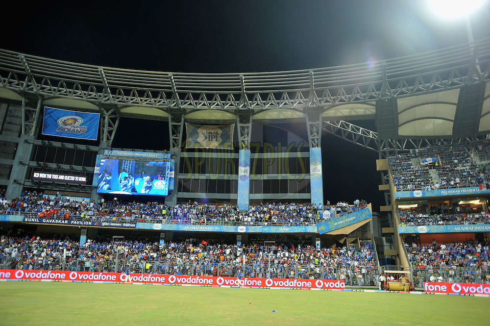 A general 360 degree view of the Mumbai Wankhede Staduim during match 54 of the Indian Premier League ( IPL) 2012  between The Mumbai Indians and the Royal Challengers Banglore held at the Wankhede Stadium in Mumbai on the 9th May 2012..Photo by Pal Pillai/IPL/SPORTZPICS.