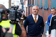 Dundee United manager Roy McKinnon arrives at Dens Park ahead of the Betfred Scottish Cup match between Dundee and Dundee United at Dens Park, Dundee, Scotland on 9 August 2017. Photo by Craig Doyle.