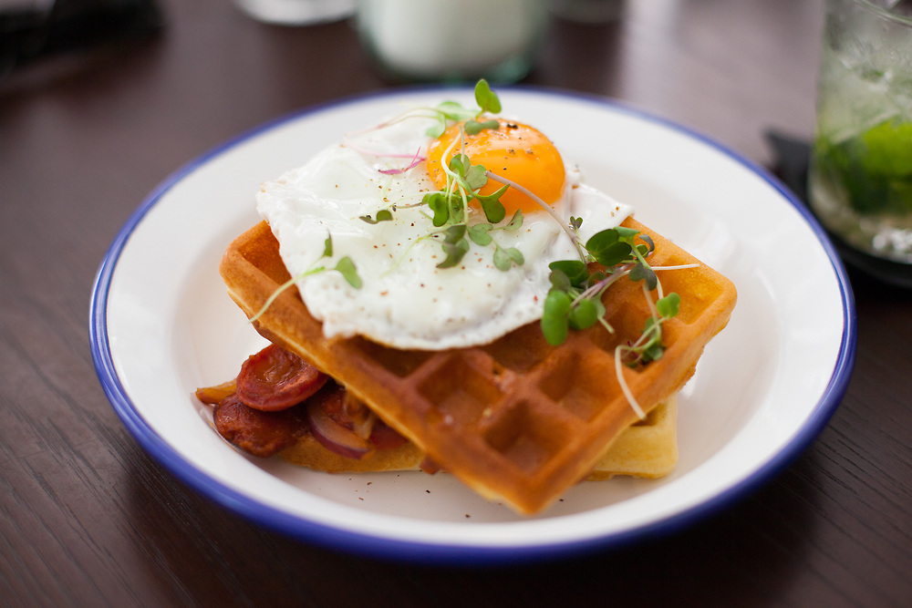 Savory Waffles at Heim Cafe ($7.85) - OFF: Lisbon (7EUR)