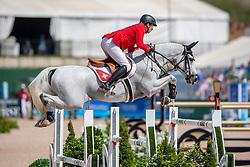 FUCHS Martin (SUI), Clooney<br /> Tryon - FEI World Equestrian Games™ 2018<br /> FEI World Individual Jumping Championship<br /> Third cometition - Round B<br /> 3. Qualifikation Einzelentscheidung 1. Runde<br /> 23. September 2018<br /> © www.sportfotos-lafrentz.de/Stefan Lafrentz