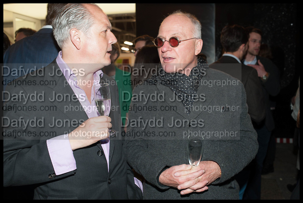 ADRIAN DANNATT; JOHN PEARSE, Frank Cohen and Nicolai Frahm host Julian Schnabel's 'Every Angel has a Dark Side,' private view and party. IN AID OF CHICKENSHED. Dairy Art Centre, 7a Wakefield Street, London. 24 APRIL 2014