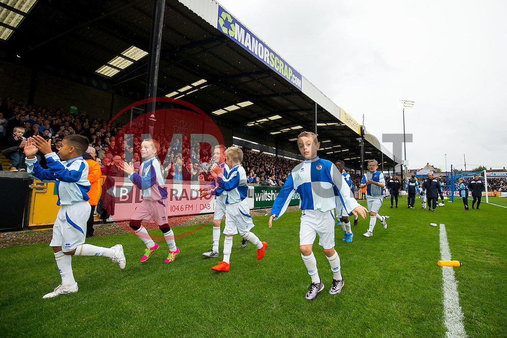 Bristol Rovers under 9s - Rogan Thomson/JMP - 15/10/2016 - FOOTBALL - Memorial Stadium - Bristol, England - Bristol Rovers v Gillingham - Sky Bet League One.