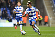 Reading's Danny Williams moves forward with the ball during the Sky Bet Championship match between Reading and Charlton Athletic at the Madejski Stadium, Reading, England on 17 October 2015. Photo by Mark Davies.