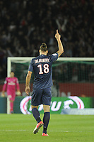 FOOTBALL - FRENCH CHAMPIONSHIP 2012/2013 - L1 - PARIS SAINT GERMAIN v TOULOUSE FC - 14/09/2012 - PHOTO ALAIN GADOFFRE / REGAMEDIA / DPPI - Joy ZLATAN IBRAHIMOVIC (PARIS SG)