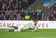 Twickenham, Surrey. UK. Elliot DALY, touches down in the  corner, during the <br /> England VS Australia, Autumn International. Old Mutual Wealth Series. RFU Stadium, Twickenham. UK<br /> <br /> Saturday  18.11.17<br /> <br /> [Mandatory Credit Peter SPURRIER/Intersport Images]