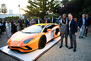 August 15, 2019:  Monterey Car Weeks, Skyler Grey, Aventador S artist, Mitja Borkert. Head of Design-AUTOMOBILI LAMBORGHINI Centro Stile