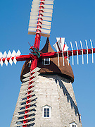 Elkhorn, Iowa's historic, rebuilt Danish windmill.
