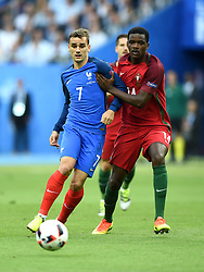 Antoine Griezmann of France battles for the ball with William Carvalho of Portugal  - Mandatory by-line: Joe Meredith/JMP - 10/07/2016 - FOOTBALL - Stade de France - Saint-Denis, France - Portugal v France - UEFA European Championship Final