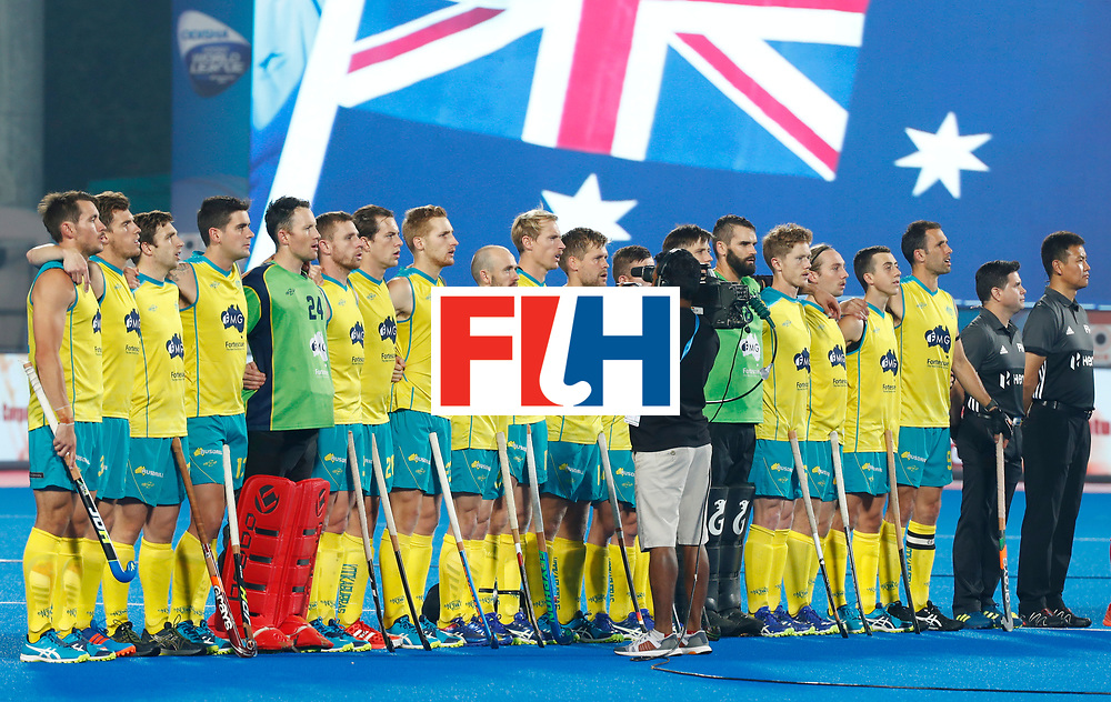 Odisha Men's Hockey World League Final Bhubaneswar 2017<br /> Match id:13<br /> Spain v Australia<br /> Foto: Line Up<br /> COPYRIGHT WORLDSPORTPICS KOEN SUYK