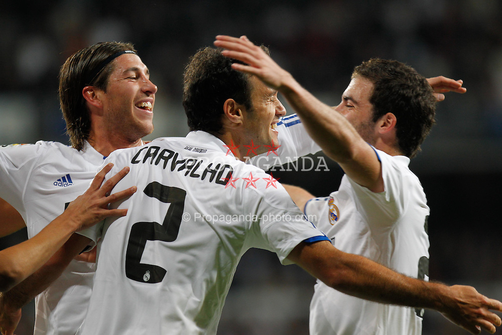 07.11.2010, Estadio Santiago Bernabeu, Madrid, ESP, Primera Division, Real Madrid vs Atletico Madrid, im Bild Ricardo Carvalho goal. EXPA Pictures © 2010, PhotoCredit: EXPA/ Alterphotos/ Cid Fuentes +++++ ATTENTION - OUT OF SPAIN / ESP +++++