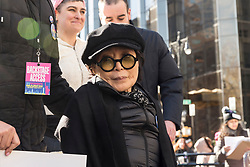 Yoko Ono attends women's march in New York at Central Park West (Photo by Lev Radin/Pacific Press/Sipa USA)