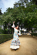 Flamenco dancer, Seville, Andalucia, Spain.<br /> Photo: Zute Lightfoot