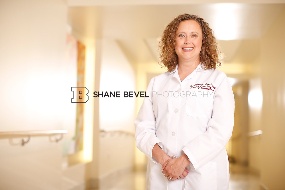 5/28/15 4:15:00 PM -- Dr. Renee Frenier of Saint Francis Health System poses for a portrait for the 2015 Advertising Campaign. <br /> <br /> Photo by Shane Bevel