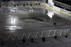 11.09.2012, Amphitheater, Pula, CRO, EBEL, Arena Ice Fever MMXII, im Bild Aufbauarbeiten zum Arena Ice Fever - Pula MMXII. Fertigstellung der Eisflaeche // Work for Arena Ice Fever - Pula MMXII. Completion of the ice surface, Amphitheater, Pula, Croatia on 2012/09/11. EXPA/ Pixsell/ Dusko Marusic ***** ATTENTION - OUT OF CRO, SRB, MAZ, BIH and POL *****