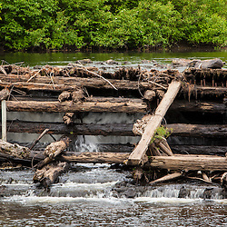 The Swanzey Woolen Mill Dam on the Ashuelot River in Swanzey, New Hampshire. The dam was removed in 2010.