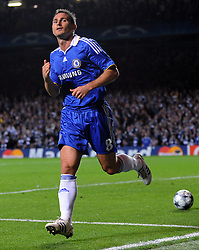 Frank Lampard of Chelsea celebrates scoring a goal during the UEFA Champions League Group A match between Chelsea and Bordeaux at Stamford Bridge on September 16, 2008 in London, England.