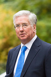 Downing Street, London, November 24th 2015. Defence Secretary Michael Fallon arrives at Downing Street for the weekly cabinet meeting. ///FOR LICENCING CONTACT: paul@pauldaveycreative.co.uk TEL:+44 (0) 7966 016 296 or +44 (0) 20 8969 6875. ©2015 Paul R Davey. All rights reserved.