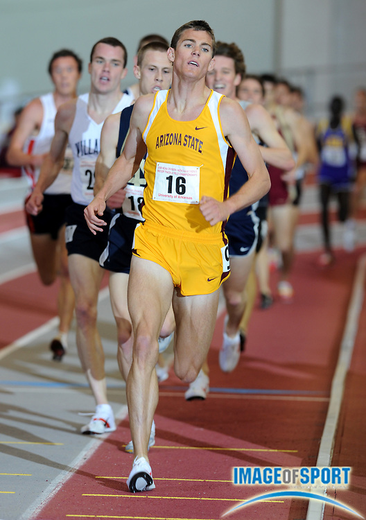 Mar 15, 2008; Fayetteville, AR, USA; Kyle Alcorn of Arizona State won the 3,000m in 8:00.82 in the NCAA indoor track and field championships at the Randal Tyson Center.